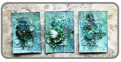 watercolor + ATCS? Oh, yes! Created by Riikka using Prima's watercolor confections.