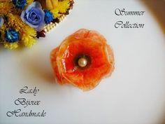 Anello regolabile con fiore di campo rosso di Lady Bijoux Handmade su DaWanda.com