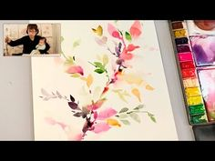 Painting fall leaves in watercolor with wet on wet Watercolor Painting Youtube, Arches Watercolor Paper, Watercolor Journal, Watercolor Projects, Watercolor Leaves, Watercolor Artists, Floral Watercolor, Painting & Drawing, Watercolor Paintings