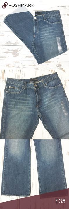 NWT Calvin Klein Bootcut Jeans Fabric content is 100 percent cotton. The inseam is 32 inches. Calvin Klein Jeans Jeans Bootcut