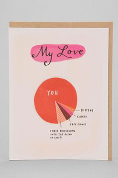 Emily McDowell Love Pie Chart Card