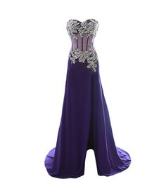Largos Long Prom Dresses,with Slit Prom Dresses,Rhinestone Prom Dresses,See Through Prom Dresses