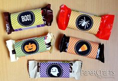 HalloweenPrintable WrappedTreats Groovin with the Go to Gals: Easy Halloween Treats and Cards