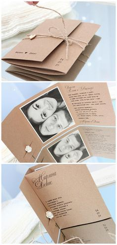 wedding invitations with photo and wood heart rustic wedding