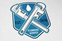 Plumbing Service Logo Templates Vintage plumbing service badge, banner or logo emblem. Elements on the theme of the plumbing service by sivVector