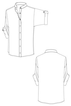 Lara shirt - shirt with kimono sleeves. flat drawing by Ralph Pink