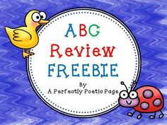 ABC Review FREEBIE.  12 usable pages!