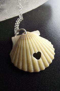 Sea Shell Jewelry - Eco Love Necklace - SHELL SHOCKED. 30.00, via Etsy.