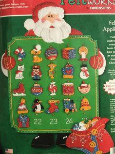 Advent Calendar Kit  Dimensions SANTA'S TOY COUNTDOWN Felt  Christmas  #Dimensions