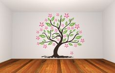 Wall Decal Tree Nature Leaves Flowers Floral by WallStarGraphics, $230.00