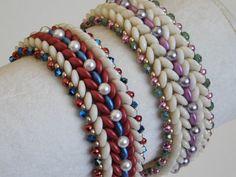 Beaded Bracelet Tutorial, Pattern, Instructions, Beadweaving, Bead, Swarovski, PDF, Instant Download, Jewelry, 2 hole lentil, Czechmates