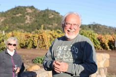 Bob Edwards after a hard day in the vineyards
