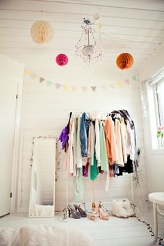 rack of clothes that I wear often every season - great idea!