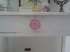 Bouton de rose, tiroir shabby