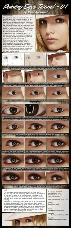 Painting Realistic Eyes Tutorial - V1 by *Packwood on deviantART