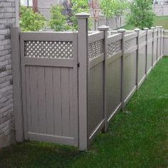 Gate For Backyard Idea. Vinyl Fence ...