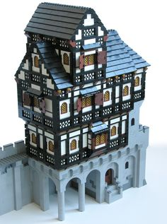 Work in progress for a mostly timbered building.