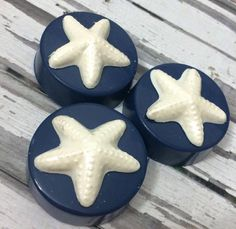 Beach Wedding Navy Blue Starfish Chocolate Covered Oreo Party Favors Sweets Table Candy Buffet Corporate Baby Shower Birthday Party