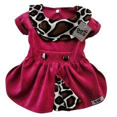 Vestido Pink Veludo Cotele Dudog Vest - MeuAmigoPet.com.br #petshop #cachorro #cão #meuamigopet