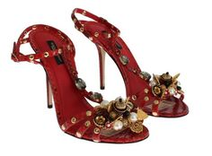 Dolce & Gabbana Shoes Gorgeous, brand new with tags, Authentic Dolce & Gabbana red python snakeskin ankle strap heels sandals shoes. This items com Crystal Shoes, Shoes Sandals, Heels, Python, Snake Skin, Ankle Strap, Brand New, Crystals, Luxury