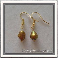 handmade genuine pearl earrings