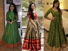 4 Reasons Why Anarkali Gowns Will Never Go Out Of Style Long Gown Simple, Simple Gowns, Long Gown Dress, Sari Dress, Lehenga Gown, Anarkali Dress, Indian Fancy Dress, Wedding Lehenga Designs, Cotton Gowns