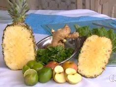 Para fazer a polpa é preciso frutas, couve e gengibre Goiás Goiânia (Foto: Reprodução/TV Anhanguera)