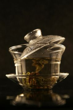 Oolong Tea - delicious and beautiful to prepare. The leaves unfurl like a flower when brewed.