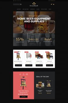 Brewery Responsive MotoCMS Ecommerce Template #65058