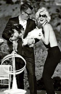 The Madame Figaro May 2012 Jovovich Photoshoot is Modeled After Monroe #hollywood #hair trendhunter.com