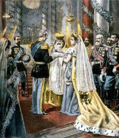 The baptism of Grand Duchess Tatiana Nikolaevna.