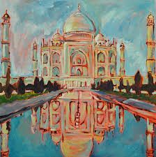 Taj Mahal, Building, Travel, Painting, Art, Art Background, Viajes, Buildings, Painting Art