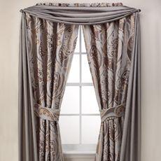 Sierra Copper Bathroom Window Curtain Panel Pair By Manor