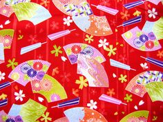 Would make a beautiful washi paper for origami ... Beautiful Japanese Fabric Hand Fans Flowers by FromJapanWithLove, $8.50