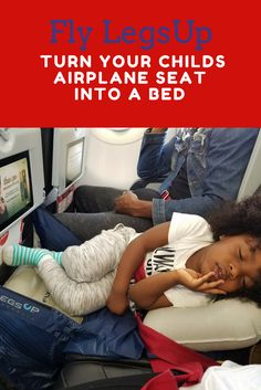 Survive flights with kids by making it easier for them to sleep on planes. Easily turn your child's airplane seat into a bed with Fly LegsUp. Full review and a must have product for traveling with kids. Tips on flying with kids, flying with toddlers, fly legs up review. Fly Legs Up Promo Code: FLYCHILD