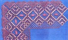 This torchon pattern with gimp and cloth and twist edge comes Heather Billington.