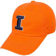 Top of the World Men's Illinois Fighting Illini Orange Crew Adjustable Hat, Team