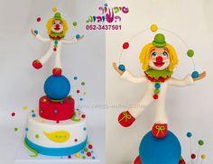 circus clown cake by sharon tzairi - cakes-mania עוגת ליצן קירקס מאת שיגעון העוגות  - www.cakes-mania.com