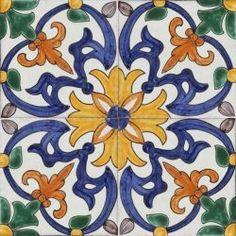 Portuguese hand painted decorative tiles
