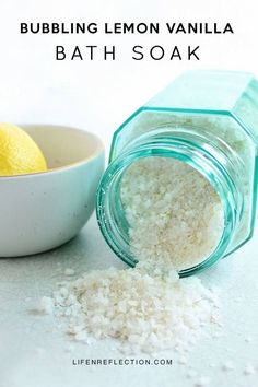 """If you've got a case of the """"Mondays"""" turn your week around with a Bubbling Lemon Vanilla Bath Soak"""