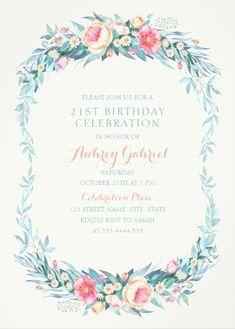 unique gold leaves 80th birthday invitations elegant frame