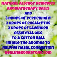 Natural allergy remedies aromatherapy balls