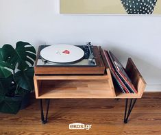 """Plattenspieler Konsole, Hear the Music. """"I've listened to that song a thousand times and I'm hear, Record Player Console, Record Stand, Vinyl Shelf, Vinyl Storage, Record Storage, Deco Originale, Audio Room, Turntable, Storage Spaces"""