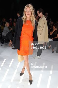 Camille Rowe attends the Christian Dior show as...