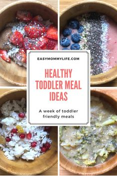 Healthy Toddler Meal Ideas: A Week Of Toddler Eats. Are you looking for healthy toddler meal ideas? In my new post, I take you through one week of my toddler& meals. Here you can get ideas on healthy foods for picky eaters, and kid friendly meals. Toddler Friendly Meals, Healthy Toddler Meals, Healthy Snacks For Kids, Easy Healthy Recipes, Baby Food Recipes, Healthy Foods, Toddler Food, Toddler Recipes, Healthy Breakfasts