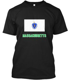 Massachusetts Flag Stencil Green Design Black T-Shirt Front - This is the perfect gift for someone who loves Massachusetts. Thank you for visiting my page (Related terms: I Heart Massachusetts,Massachusetts,Massachusetts,Massachusetts Travel,I Love My Country,Massachuset #Massachusetts, #Massachusettsshirts...)