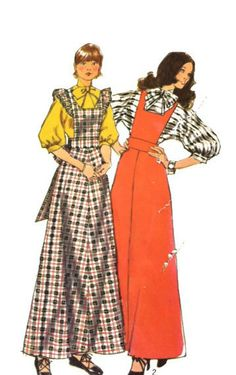 Women's maxidress jumper and blouse Vintage by LeahsHeart on Etsy