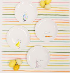 How fun is this colorful spring table setting?! We love it!