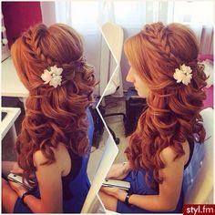 Fryzury ślubne włosy: Fryzury Długie Ślubne - Szzeherezada - 2769300 hair -  red