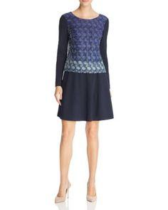 FINITY Pintucked Jacquard Dress | Bloomingdale's